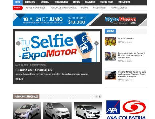 Nuevo portal www.expomotor.com.co  365 días de ofertas exclusivas